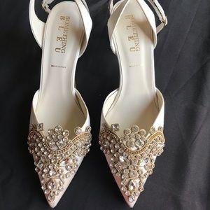 BHLDN Something Bleu Bridal collection heels SZ 10